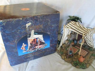 "VINTAGE 1997 ITALY 5"" FONTANINI KING BALTHAZAR'S GOLD TENT 50254 RETIRED"
