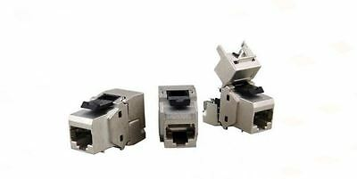 Keystone Jack CAT6a RJ45 Metall, geschirmt