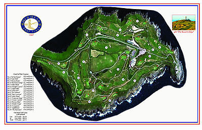 Old Head Golf Links - Cork Ireland - 1997 - Vintage Golf Course Maps print