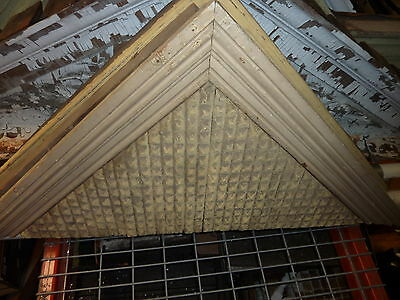 UNIQUE c1870 VICTORIAN gingerbread WINDOW door gable pediment 57 x 27 x 4 7/8""