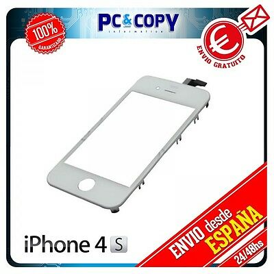 Pantalla Tactil Para Iphone  4S Marco Digitalizador Cristal Touch Screen Blanco