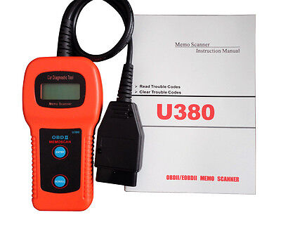 U380 OBDII OBD2 EOBD Check Engine Scanner Trouble Code Reader Shipped From USA
