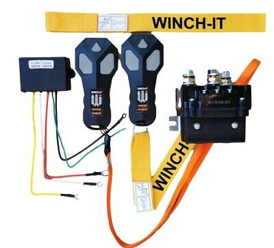 12v HD Contactor  winch solenoid TWIN Wireless Remote Suit recovery winch 4x4