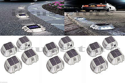 12 Pack Solar LED Pathway Driveway Lights Walkway Dock Path Step Decoration