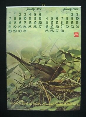 "Coca Cola 1973 ""I'd Like To Teach the World To Sing"" Calendar - NM"