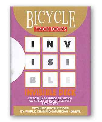 RED INVISIBLE DECK bicycle Playing Cards Daryl Mind Magic Trick gaff mentalism