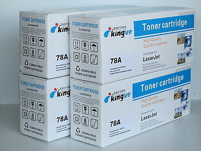 4PK Comaptible Black Toner for HP 78A CE278A fits HP LarserJet P1606dn M1536