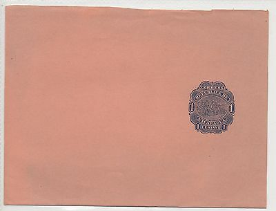 NICARAGUA PRESTAMPED COVER WITH BLUE 1c.