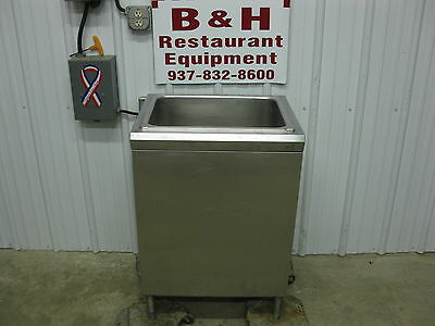 "SaniServ 24"" x 20"" Stainless Steel Insulated Under Bar Ice Box Well 2' Sani Serv"