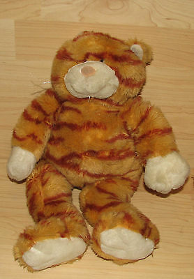 Build A Bear Workshop Orange Striped Tabby Cat Kitty Plush Stuffed BABW 16""