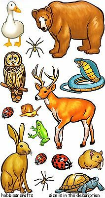 Ek Success Sticko Stickers - Bugs Insects Frog Bear Deer Owl - Forest Animals
