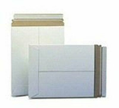 100 7 x 9 No Bend Mailers White Self Seal  Photo Document Flat Rigid Envelope