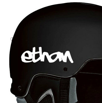 3 Custom Helmet Stickers Vinyl Decal Motorcycle Snowboarding Personalized Gift