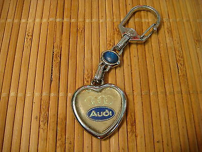 Vintage 1960's 60's Audi Keychain Heart Shape Collectible Very Rare
