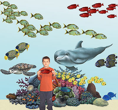 Tropical Coral Reef Wall Stickers Decals