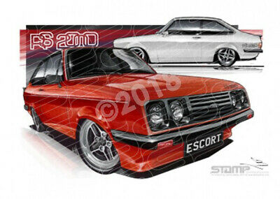 Compact FORD RS2000 ESCORT  FRAMED PRINT (FT160)-New_Itemq