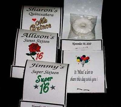 Sweet Sixteen Super 16 Quinceanera 15  Mint Book Mintbook Covers Birthday Favors