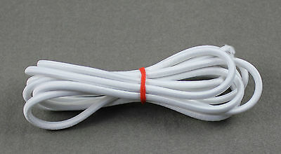 1-Yard White 5mm Round Elastic Cord for BJD Doll Antique Bisque OOAK Doll Repair