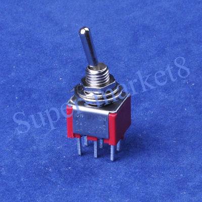 4pcs Red Toggle Switch DPDT ON-ON PCB 6Pin Guitar Amp Audio Tube Amplifier