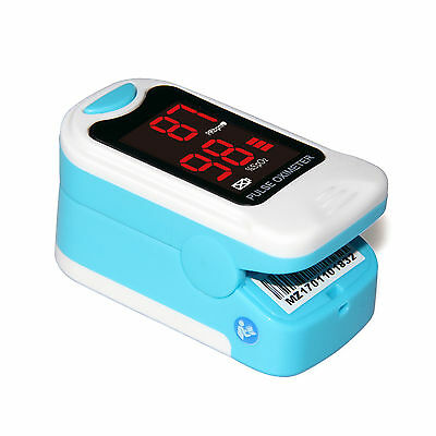 LED Blood Oxygen Finger Pulse Oximeter Oxymeter SPO2 Heart Rate Monitor + Pouch