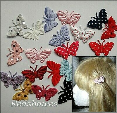 2 x Butterfly Hair clips for Girls or Baby - you choose both Styles & colours!