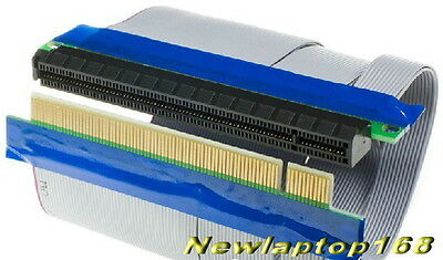New PCIe Express x16 PCI-E 16X Extension Riser Card Flexible Extender Cable