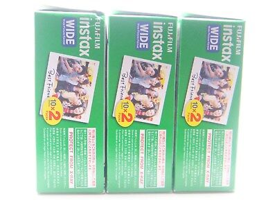 3 x FUJI INSTAX WIDE FILM 20 PACK FOR 200, 210 & 300 By 1st CLASS ROYAL MAIL