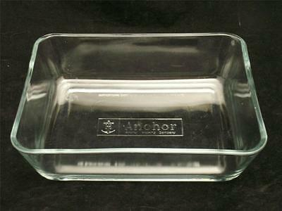 ANCHOR  Clear Glass 1.5 Quart Rectangular Loaf Dish / Cake Pan