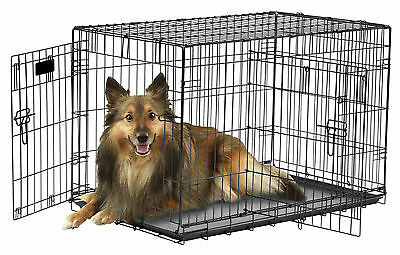 Precision Pet Wire Folding Pet Crate Suitcase Style 2 Door Dog Cat Divider Panel
