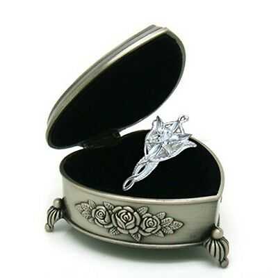 Lord of The Rings The Arwen Evenstar Pendant Necklace Gift Heart Box Packed