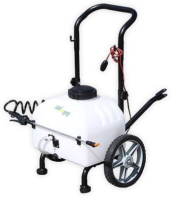 34L Rechargeable 12V 3.8lpm 40psi Trolley Spot Sprayer Weed Gardening 12 Volt