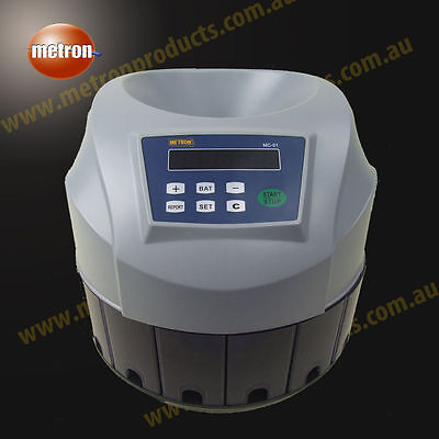 Coin Counting Made Easy - Quality Metron Coin Counter * Counts, Batches*