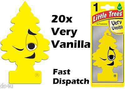 "Magic Tree""little Tree"" Very Vanilla Fragrance Car Air Freshener Pack Of 20"