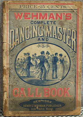 Wehman's Complete Dancing Master and Call Book 1889 Negro stereotype Ads in rear