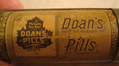 Doan's Pills VINTAGE Container Foster Milburn Buffalo NY with FREE SHIPPING