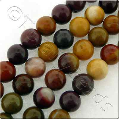 Mookaite Gemstone Beads - Plain Round or Faceted Round - 4mm, 6mm and 8mm
