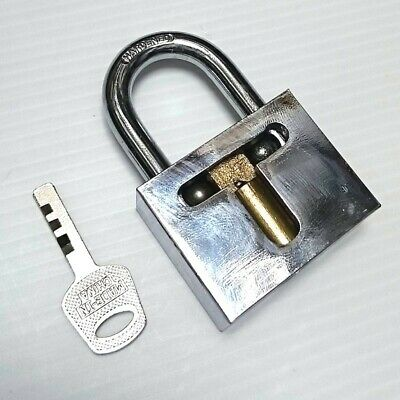 Cutaway Practice 7 pins Brass Lock training Skill Pick for Locksmith Learning