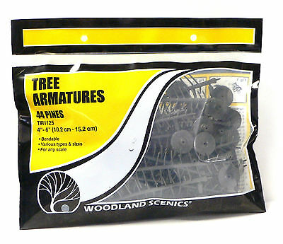Woodland Scenics Tree Armatures For Model Railroad Train Layouts 44 Pines 1125
