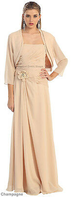 SALE ! SIMPLE CLASSY MOTHER of GROOM BRIDE GOWN EVENING FORMAL DRESS & PLUS SIZE