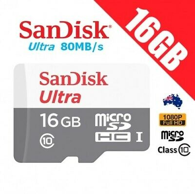 SanDisk Ultra 16GB Micro SD SDHC TF Memory Card 80MB/s Full HD UHS-I 2017 New