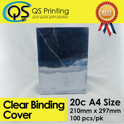 200 micron A4 PVC clear Binding Cover 100 sheets / pack