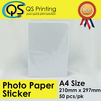 A4 Photo Paper Self Adhesive Sticker / Label for inkjet printer 50 sheets/pack