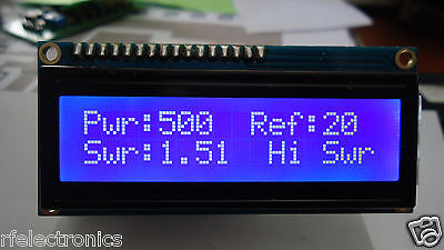 DIGITAL LCD 2x16 BLUE INDICATOR with SWR PROTECTION for 500w POWER SWR METER