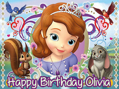 SOFIA the 1st Edible CAKE Decoration Image Icing Topper FREE SHIPPING