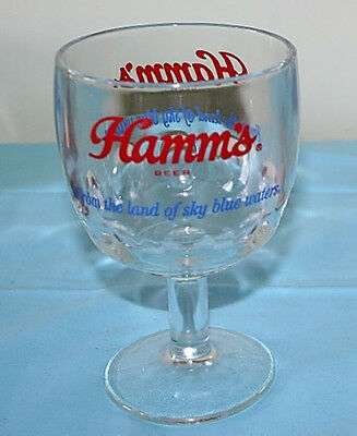 HAMMS From the land of sky blue waters 12 oz DIMPLE GOBLET BEER GLASS VINTAGE