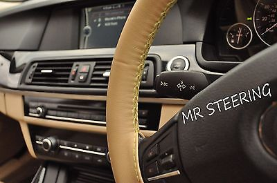 For Mercedes E Class W211 02-08 Best Quality Beige Leather Steering Wheel Cover