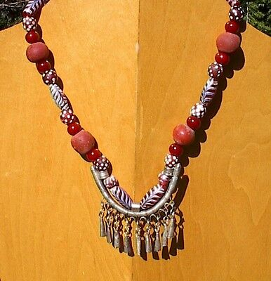 Unique, one of a kind beaded necklace using ancient, antique and vintage beads
