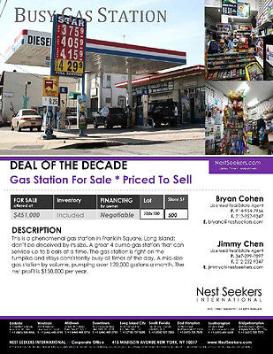 """Deal of the Decade"" Gas Station/Convenience Store For Sale With Owner Finacing"