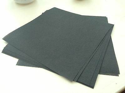 Black Tear Away Embroidery Stabiliser/Backing 20cm x 20cm - 10 sheets