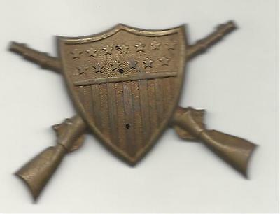 INDIAN WARS U.S. ARMY INFANTRY OFFICERS HELMET PLATE OVERLAY FOR THE EAGLE PLATE